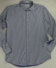 Nordstrom Calibrate Blue Trim Fit Long Sleeve Stretch Shirt 17/34-34