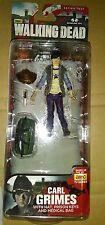 The Walking Dead Series 4 Carl Grimes W/ Hat, Knife, Prison Keys & Duffle Bag