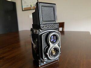 Minolta Autocord 120 Medium Format TLR Film Camera 75mm F3.5 Citizen Shutter