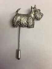 D04 Scottie Dog english pewter Motif on a tie stick pin hat scarf collar co