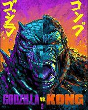 New Art rePrint of 2021 Poster Godzilla vs. King Kong collectible Movie Gojira