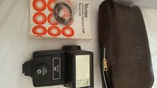 Vivitar 283 Electronic Flash Gun + original case pouch instructions spare repair