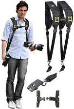 Dual Shoulder Camera Neck Strap With Quick Release For Panasonic Lumix DMC-FZ200