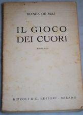 DE MAJ - IL GIOCO DEI CUORI -  Rizzoli 1941 1A