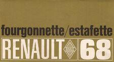 Renault Estafette & 4 Fourgonette Van 1968 French Market Foldout Sales Brochure