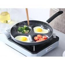 Non Stick 4 Cup Hole Egg Pan Aluminium Poacher Induction Frying Fry 28cm