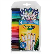 Crayola Mini Supertips 16 Pack Assorted Colours Pip Squeaks FREE P&P