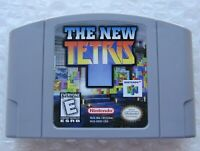 *GREAT* The New Tetris Nintendo 64 N64 Video Game Retro Puzzle Solving Vintage
