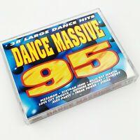 ~ Rare ~ Dance Massive 95 ~ 38 Large Dance Hits ~ Double Cassette ~ DINMC 87 ~