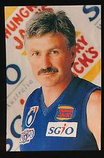 1995 West Coast Eagles Optus Michael Malthouse Hungry Jacks card