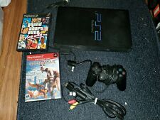 New listing Sony PlayStation 2 Ps2 Scph-30001 complete console bundle Grand Theft Auto works