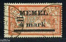 Memel 4mark/2fr. Aufdruck 1920 fette 4 Michel 31 I y PF I a geprüft (S5939)