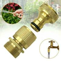 """3/4"""" Garden Water Hose Quick Connector Fit Brass Male Connect Acc Female T2C0"""
