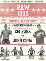 Raw 1000 Anniversay CM Punk V John Cena Wrestling Art Retro Print 8x10 WWF WWE