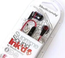 RED SKULLCANDY INK'D 2 Earphone Earbuds Headphones for iPhone iPod MP3 Player