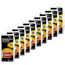 60 x Duracell Activair 13 Size Hearing aid batteries Zinc air 10 Packs EXP:2021