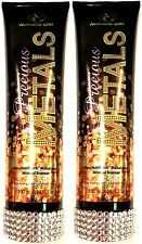 Lot of 2 New Australian Gold Precious Metals Mineral Bronzer Tanning Bed Lotion