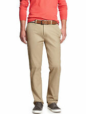 15570 Banana Republic Mens Tailored Aiden Fit Chino Pants Beige 34W X 32L $80