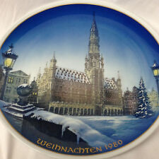 """ROSENTHAL GERMANY WEIHNACHTEN 1980 WALL PLATE 8 3/4"""" CHRISTMAS IN BRUSSELS"""