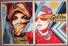 Golden Future for Some print set by Shepard Fairey signed and numbered