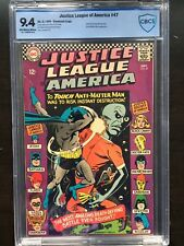 JUSTICE LEAGUE OF AMERICA #47 CBCS NM 9.4; OW-W; Justice Society app.!
