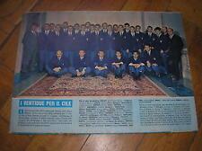 CALCIO MONDIALI CILE SQUADRA ITALIA 1962 FIFA WORLD CUP CHILE FOOTBALL