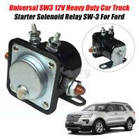 12V 4 Terminal Universal Car Starter Motor Solenoid Relay For Ford 130493 Black