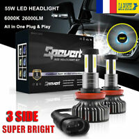 360° 110W H8 H9 H11 Voiture LED Ampoule Phare Feux Lampe Kit 30000LM 6000K Blanc