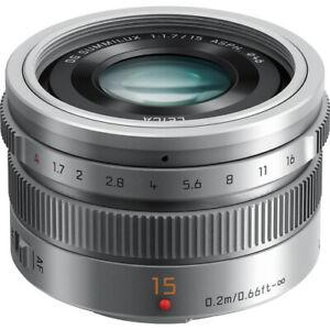 Panasonic LUMIX G Leica DG Summilux 15mm f/1.7 ASPH. Lens (Silver) - H-X015-S