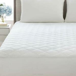 QUILTED MATTRESS TOPPER PROTECTOR FITTED COVER SINGLE SMALL DOUBLE SUPER KING