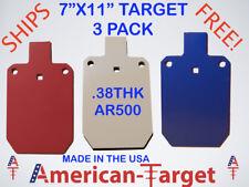 """American-Target AR500 3/8 steel target 7"""" x 11"""" silhouette target"""