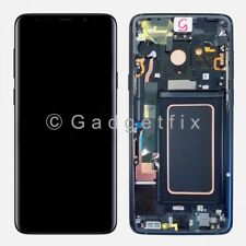 Blue Display LCD Touch Screen Digitizer Frame Replacement For Samsung Galaxy S9