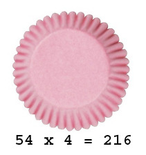 Culpitt 216 x PALE PINK 50mm Standard Cupcake Cup Cake Muffin Baking Cases