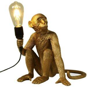 Stylish Monkey Table Lamp Living Room Light Large Opal Design Lighting AU PLUG