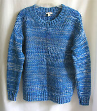 GAP Womens Blue Cotton Sweater Size Small Tweed Pullover