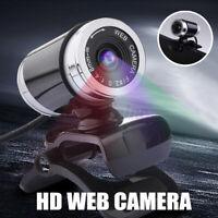 USB 360° Web Cam Camera Webcam with Microphone for Computer PC Laptop Desktop