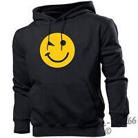 Smiley Wink Funny Mens Smile Hoodie Emoji Womens Hoody Top Rave Summer Party