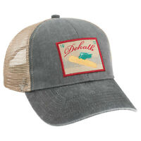 DEKALB SEED Gray 1912 Vintage Trademark Logo Cap Hat New Ballcap Corn Distressed