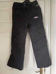 2- Boys No Fear Ski Trousers Snowboarding 11-12 Yrs Black