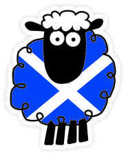Scottish Car Bumper Window Sticker Decal Vinyl Scotland Saltire Cartoon Sheep