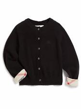BNWT Beautiful Designer BURBERRY Girls Black Cashmere Cardigan Sweater 4Y