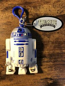 "Star Wars R2-D2 4"" Treasure Keeper Coin Keychain Purse 1999"