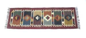 Floor Kilim Rugs Jute Area Rug Hand loomed jute Runner Indian Yoga Mat Rug 2x6-6
