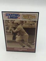 "1989  JOHNNY BENCH - Starting Lineup Card - ""Baseball Greats"" - CINCINNATI REDS"