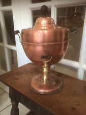 BEAUTIFUL ANTIQUE VINTAGE COPPER AND BRASS SAMOVAR COFFEE TEAPOT WORKING