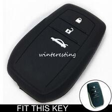 Silicone Remote Key Cover Case Fob For Toyota Fortuner Hilux Highlander Prado