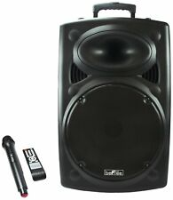 "Bluetooth 900 Watt Portable PA Speaker 15"" Subwoofer USB/SD TRS MIC AUX Remote"