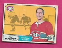1968-69 OPC # 57 CANADIENS TERRY HARPER FAIR  CARD  (INV# C4201)