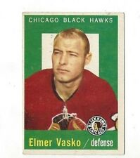 1959-60 Topps Hockey -Elmer Vasko #3 excellent (see scan)