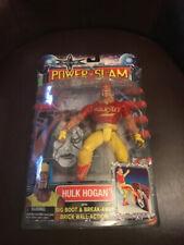 RARE 2000 WCW POWER SLAM HULK HOGAN FIGURE W/ STING WALL RED & YELLOW MIP TOYBIZ